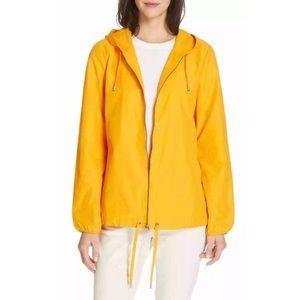 Eileen Fisher Hooded Windbreaker Zip Jacket Sz L